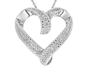 Diamond Silver Pendant .15ctw