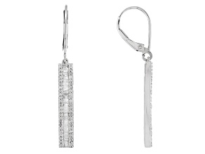 Diamond Sterling Silver Earrings .75ctw