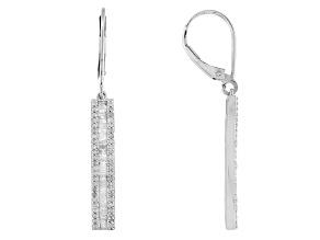 Diamond Sterling Silver Earrings .75ctw