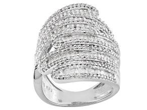 Rhodium Over Sterling Silver Diamond Ring 1.75ctw