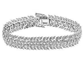 Rhodium Over Sterling Silver Diamond Bracelet 2.02ctw