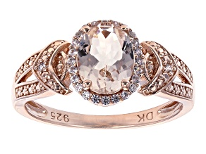 Pink Morganite 18k Rose Gold Over Sterling Silver Ring .93ctw
