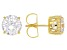 Charles Winston For Bella Luce ® Cubic Zirconia 18K Yellow Gold Over Silver Stud Earrings 9.60ctw