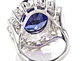 Blue And White Cubic Zirconia Sterling 27.20ctw