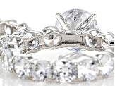 Charles Winston For Bella Luce ® 28.00ctw Rhodium Over Sterling Silver Ring And Band
