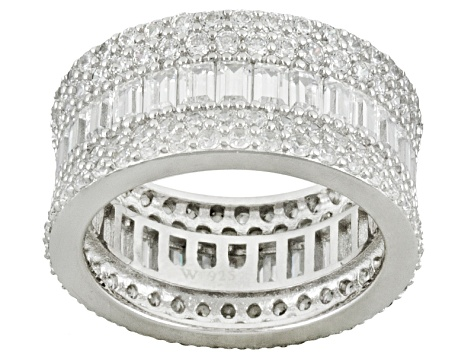 Charles Winston For Bella Luce ® 9.02ctw Rhodium Over Silver Ring