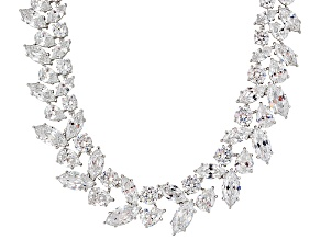 Charles Winston For Bella Luce ® 187.54ctw Rhodium Over Silver Necklace