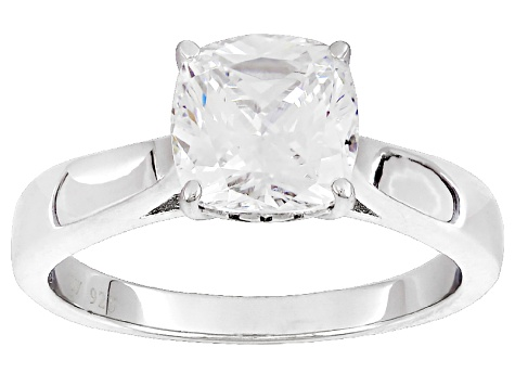 White Cubic Zirconia Rhodium Over Sterling Silver Ring 2.75ctw