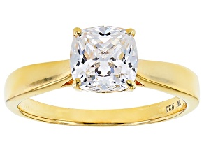 White Cubic Zirconia 18k Yellow Gold Over Silver Ring 2.75ctw