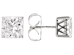 White Cubic Zirconia Sterling Silver Earrings 8.80ctw