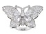 White Cubic Zirconia Sterling Silver Butterfly Ring 7.71ctw