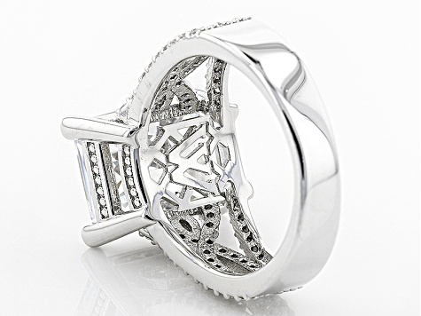 Cubic Zirconia Silver Ring 16.14ctw