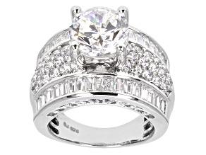 Cubic Zirconia Silver Ring 11.03ctw