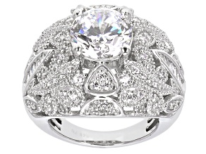 Cubic Zirconia Sterling Silver Ring 8.38ctw