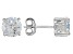 Cubic Zirconia Rhodium Over Sterling Silver Stud Earrings 3.50ctw
