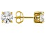 White Cubic Zirconia 18k Yellow Gold Over Silver Earrings 3.50ctw