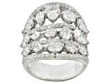 Cubic Zirconia Sterling Silver Ring 11.13ctw