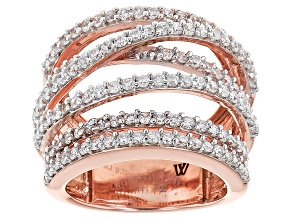 Cubic Zirconia 18k Rose Gold Over Sterling Silver Ring 3.48ctw.