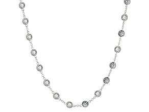 Cubic Zirconia Sterling Silver Necklace 15.20ctw