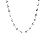 Cubic Zirconia Rhodium Over Sterling Silver Necklace 15.20ctw