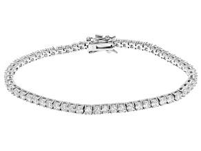 Cubic Zirconia Sterling Silver Bracelet 9.00ctw
