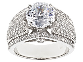 Cubic Zirconia Sterling Silver Ring 6.75ctw