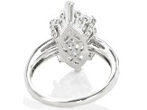 Scintillant Cut Cubic Zirconia Rhodium Over Sterling Silver Ring 8.80ctw