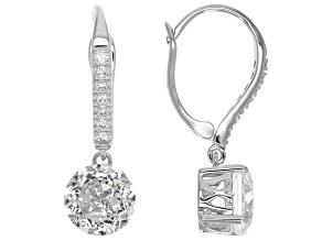 Cubic Zirconia Sterling Silver Earrings 6.68ctw