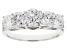 Cubic Zirconia Rhodium Over Sterling Silver Ring 4.59ctw