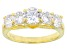 Cubic Zirconia 18k Yellow Gold Over Sterling Silver Ring 4.59ctw