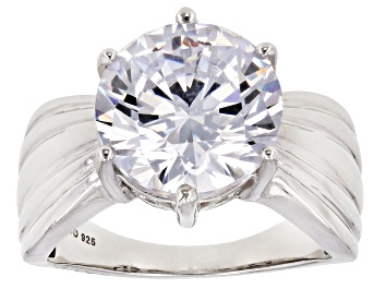 Picture of White Cubic Zirconia Rhodium Over Sterling Silver Ring 11.93ctw