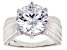 White Cubic Zirconia Rhodium Over Sterling Silver Ring 11.93ctw