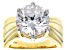 White Cubic Zirconia 18k Yellow Gold Over Silver Ring 11.93ctw