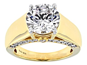 White Cubic Zirconia 18K Yellow Gold Over Sterling Silver Ring 7.83ctw
