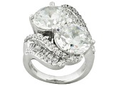White Cubic Zirconia Rhodium Over Sterling Silver Ring 15ctw