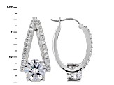 White Cubic Zirconia Rhodium Over Sterling Silver Earrings 16.45ctw