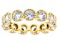 White Cubic Zirconia 18k Yellow Gold Over Sterling Silver Ring 5.59ctw
