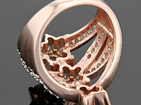 Cubic Zirconia 18k Rose Gold Over Silver Ring 4.96ctw (2.67ctw DEW)