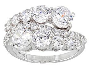 Cubic Zirconia Silver Ring 6.28ctw (3.57ctw DEW)