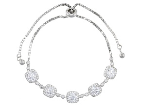 Cubic Zirconia Silver Bracelet 7.66ctw (4.98ctw DEW)