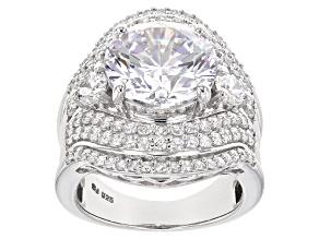 Cubic Zirconia Silver Ring 15.53ctw (8.75ctw DEW)