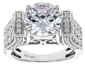 Cubic Zirconai Silver Ring 8.76ctw (4.80ctw DEW)