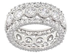 Cubic Zirconia Silver Ring 8.46ctw (5.42ctw DEW)