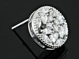 Cubic Zirconia Silver Earrings 1.90 (.96ctw DEW)