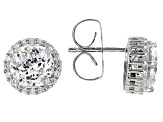 Cubic Zirconia Silver Earrings 5.16ctw (3.60ctw DEW)