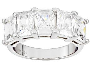 Cubic Zirconia Silver Ring 5.90ctw (4.24ctw DEW)