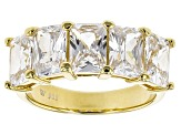 Cubic Zirconia 18k Yellow Gold Over Silver Ring 5.90ctw (4.24ctw DEW)