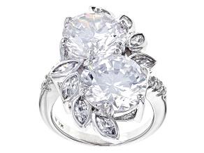 Cubic Zirconia Silver Ring 18.26ctw (10.38ctw DEW)