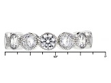 Cubic Zirconia Silve Ring Set Of 5, 3.11ctw (2.14ctw DEW)