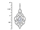 White Cubic Zirconia Rhodium Over Sterling Silver Pendant With Chain 7.10ctw
